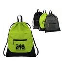 Custom Sports Gym String Drawstring Backpack, 15.75