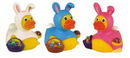 Custom Rubber Easter Bunny Duck Toy, 3 3/8