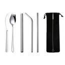 Custom Stainless Steel Straw/Silverware Fork Spoon Straw Kit, 9