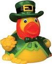 Custom Rubber Lucky Leprechaun Duck, 3 1/4