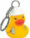 Custom Rubber Construction Worker Duck Key Chain