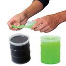Custom Oil Barrel Anti-Stress Putty - Black Or Neon Green, 2