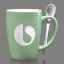 Custom Winfield Mug & Spoon - 15oz Green