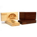 Custom Rectangular Wooden USB Flash Drives with Magnetic Closure, 61mm L x 29mm W x 10mm H