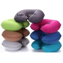 Custom TPU Outdoor Travel Inflatable U-shaped Pillow, 17.7