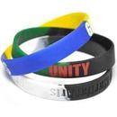 Custom Segmented Debossed Silicone Wristbands, 8