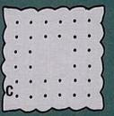 Square Coaster Napkin w/ Scallop & Dots - 6