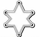 Custom Star Badge Notekeeper Magnet- 35 Mil Process Color (2-5/8