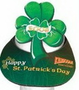 Custom Foam Full Color Shamrock Pop-Up Visor