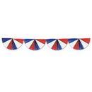 Custom Red/White/Blue Fan Garland, 9