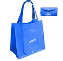 Custom Non-Woven Foldable Reusable Shopping Tote Bag, 15 1/2
