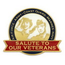 Custom Salute Our Veterans Pin, 1 1/4