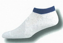 Custom White Heel & Toe or Tube Sock Footie w/ Knit-in Design (5-9 Small)