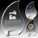 Custom Flame Acrylic Award w/ Chrome Base - Screen Print