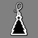 Custom Luggage Tag W/ Tab - Christmas Tree (Silhouette)
