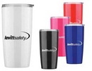 Custom 20 Oz. Colorful Tumbler w/ Translucent Plastic Exterior, 2 3/4