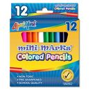 Blank 12 Pack Of Mini Colored Pencils 3.5