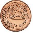 Custom 500 Series Stock Medal (Scholastic) Gold, Silver, Bronze