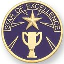 Blank Scholastic Award Pin (Star of Excellence), 1