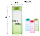 Custom Gradient Color Frosted Glass Water Bottle, 6.1