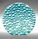 Custom Aqua Blue Raindrop Preservation Award - Recycled Glass, 3 1/2
