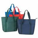 Custom 600d Polyester Zippered Tote Bag ( Screen Printed ), 20