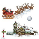 Custom Santa's Sleigh & Workshop Props