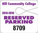 Custom Giant Hang Tag Recycled Polyethylene Parking Permit (.035