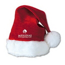 Custom Imprinted Velvet Santa Hat w/ Plush Trim