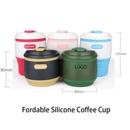 Custom 12oz Folding Silicone Coffee Cup, 3 1/7