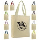 Custom Promo Tote with Gusset & Color Handle (Printed), 15