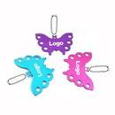 Custom Butterfly Shape Metal Pet ID Tags Key Tag, 1 4/5