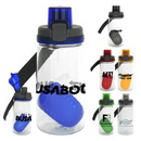 Custom Locking Lid 18oz Bottle with Floating Infuser, 2.75