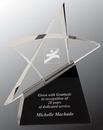 Custom Crystal Outline Star Award, 7