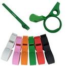 Custom Silicone Slap Bracelet With Whistle, 10 2/5