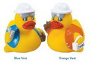 Custom Rubber Safety Construction Duck, 3 1/2