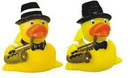 Custom Rubber Jazz Musician Duck, 3 3/8