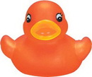 Custom Transparent Orange Mini Rubber Duck, 2 1/2