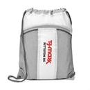 Custom The Leader Drawstring Bag - White, 14.0