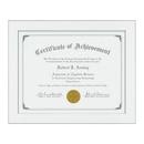 Custom Hardock Certificate Frame - White/Silver 81/4