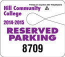 Custom Jumbo Recycled Polyethylene Hang Tag Parking Permit (0.035