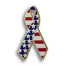 Custom American Flag Ribbon - Die Struck Patriotic Lapel Pins, 1