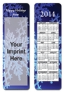 Custom Stock Full Color Digital Printed Bookmark - Holiday Snowflake w/ Calendar