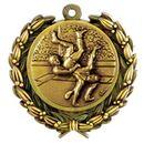 Custom Stock Wrestling Medal w/ Sport Silhouettes (1 1/2