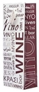 Custom The Everyday Wine Bottle Gift Bag Collection (Wine in Many Languages), 4 7/8
