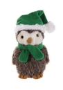 Custom Plush Owl With Christmas Scarf and Hat 12