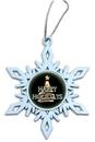 Custom White Snowflake Ornament, 3