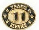 Custom Stock Die Struck Pin (11 Years Service)