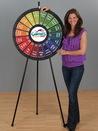 Custom 18-Slot Black Floor Stand Prize Wheel Game