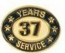 Custom Stock Die Struck Pin (37 Years Service)
